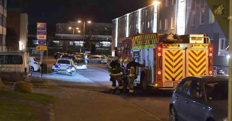 تفجير دراجة بخارية في مبنى سكني في منطقة Vitemöllegatan في مدينة مالمو مساء الثلاثاء -