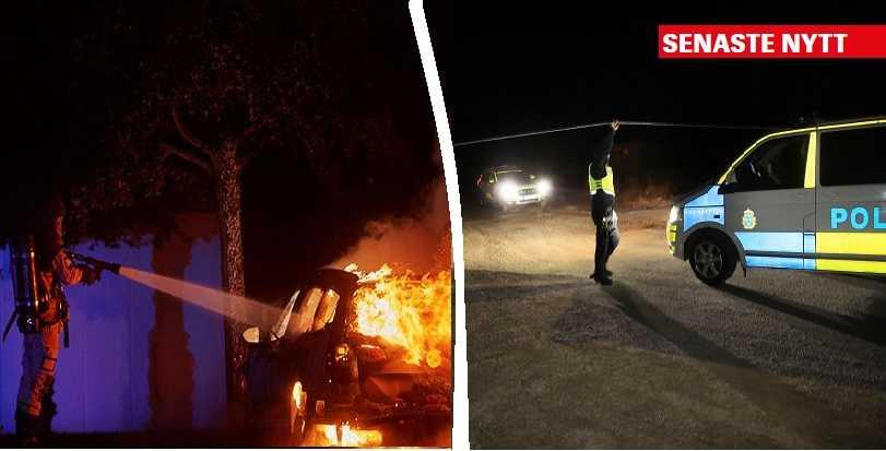 تفجير وحرق سيارة بداخلها ثلاثة أشخاص في مدينة أوبسالا - أخبار السويد